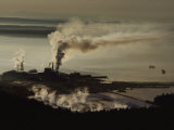 An Aerial View of a Pulp Mill Photographic Print by Sam Abell