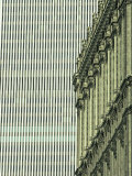 New York Stock Exchange Building and World Trade Center in Background Photographic Print by Skip Brown