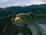 The Great Wall of China at Badaling Fotoprint van James L. Stanfield