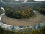 Autumnal View of One of the Loops in the Buffalo River Photographic Print by Randy Olson