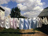 Laundry on a Clothesline Photographic Print by Steve Raymer