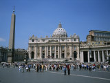 A View of St Peter's Basilica in Vatican City Photographic Print by Taylor S. Kennedy