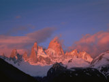 View of Cerro Fitzroy (Center) at Twilight Photographic Print by Bobby Model