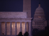 A View of the Lincoln and Washington Monuments, and the U.S. Capitol Photographic Print by Karen Kasmauski