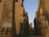 A View of Luxor Temple Fotografiskt tryck av Kenneth Garrett