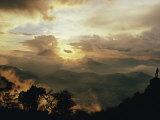 The Volcanic Cone of Santa Maria Pierces the Clouds in the Western Highlands of Guatemala Fotodruck von Joe Scherschel