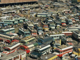 Buses Fill a Parking Lot Photographic Print by Joe Scherschel