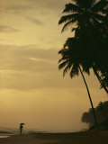 Person Walking Along a Beach in Sri Lanka Photographic Print by Steve Winter