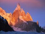 Sunrise over Patagonias Cerro Torre Massif Photographic Print by Jimmy Chin