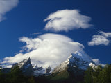 Watzmann Massif with Clouds, Berchtesgaden National Park, Germany Photographic Print by Norbert Rosing