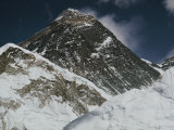 A Close-up of Mount Everest and Lhotse Photographic Print by Barry Bishop
