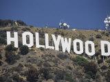 The Landmark Hollywood Sign Fotografisk tryk af Richard Nowitz