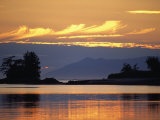 A Pretty Sunset at Kah Shakes Cove with Revillagigedo Island in Back Photographic Print by Bill Curtsinger