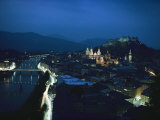 Salzburg, Austria, Night View Photographic Print by George F. Mobley