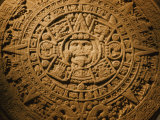 Close-up of the Center of the 20-Ton Aztec Sun Stone Photographic Print by B. Anthony Stewart