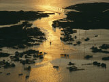 Aerial Shot, Tangier Island, Chesapeake Bay, Virginia Photographic Print by Skip Brown