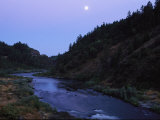 The Moon Appears over the Rogue River Photographic Print by Melissa Farlow