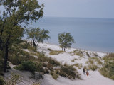 Indiana Dunes State Park Provides a Playground on Lake Michigan Photographic Print by B. Anthony Stewart
