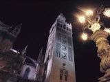 La Giralda, a Part of the Seville Cathedral, at Night Photographic Print by Steve Winter