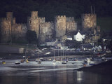 Massive, Eight-Towered Conwy Castle and its Walled Garrison Town Photographic Print by Farrell Grehan