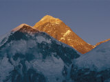 Mount Everest is Seen in the Evening Light Photographic Print by Bobby Model