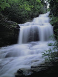 Upper Cascades Falls Flows Down a Mountain in Hanging Rock State Park Photographic Print by Raymond Gehman