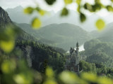 Neuschwanstein Castle of King Ludwig Along the Alp-See Stampa fotografica di Mobley, George F.