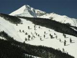 Elevated View of Slope at Big Sky Ski Resort Fotografisk tryk af Raymond Gehman