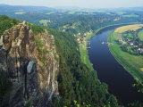 Aerial View, Sachsische Schweiz National Park, Germany Photographic Print by Norbert Rosing