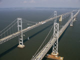 An Aerial View of the Chesapeake Bay Bridge Photographie par Richard Nowitz