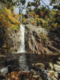 A View of the Silver Cascade Falls in New Hampshires White Mountains Photographic Print by Medford Taylor