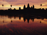Angkor Wat Temple at Twilight Photographic Print by Steve Raymer