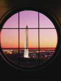 A View of the Washington Monument at Sunset Taken from the Willard Hotel Photographic Print by Richard Nowitz