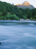 Tres Montes and Futaleufu River, Chile Photographic Print by Skip Brown