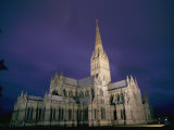 A View of the Salisbury Cathedral at Night Photographic Print by Richard Nowitz
