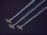Three Bi-Planes of the Christian Eagle Performers in Formation Photographic Print by Kenneth Garrett