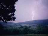 Lightning Strikes over Pleasant Valley Photographic Print by Paul Zahl