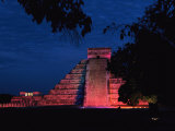 Night View of El Castillo Photographic Print by Steve Winter
