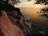 View Looking Down Cliffs at Sunset, Rugen Island Photographic Print by Norbert Rosing