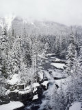 Winter View of Mcdonald Creek Photographic Print by Lowell Georgia