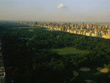 Aerial View of Central Park, an Oasis in Crowded Manhattan Photographic Print by Melissa Farlow