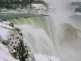 Winter View of Cascading Niagara Falls Photographic Print by Melissa Farlow