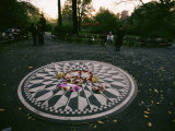 The Imagine Mosaic, a Memorial to John Lennon in Strawberry Fields Photographic Print by Melissa Farlow