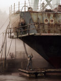 Sandblasters Restore a Soviet Ship at This Shipyard Photographic Print by Cotton Coulson