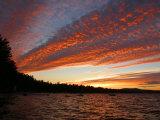 Sunset on Sebago Lake Lámina fotográfica por Brown, Skip