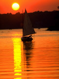 Catboat on the Chesapeake Bay at Sunset Photographic Print by Skip Brown