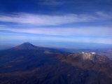Aerial View of Popocatepetl and Iztaccihuatl Volcanoes Photographic Print by Raul Touzon