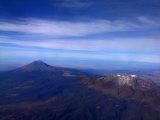Aerial View of Popocatepetl and Iztaccihuatl Volcanoes Photographic Print by Raul Touzon