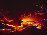 A Lake of Molten Lava Inside the Volcanos Crater Photographic Print by Peter Carsten