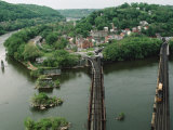 Bridges at the Confluence of the Potomac and Shenandoah Rivers Photographic Print by Joel Sartore